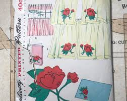 Retro Kitchen Curtains 1950s by 50s Curtains Etsy