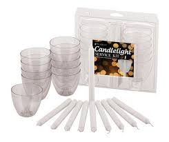 candlelight service kit clear wind protectors bobeches and