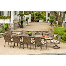 Agio Manhattan by Davenport Collection 9 Piece Outdoor Patio Dining Set Rc Willey