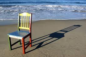 omnipresent drip art chair