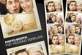 photo booth wedding photobooth psd wedding template templates creative market