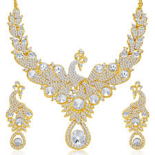 necklace set images images Buy sukkhi exotic peacock gold plated ad necklace set for women jpg