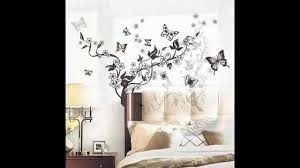 wall stickers home decor flowers vine u0026butterflies removable vinyl wall decal sticker art