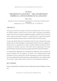 theoretical geology u2013 the gap between empirical and mathematical