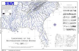 Physiographic Map Of The United States by Se Maps Regional Maps Home