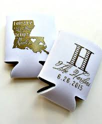 wedding koozie favors personalized koozies wedding koozies laissez les bon temps
