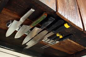 kitchen knives storage space solutions cabinet knife rack