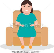 Cartoon Armchair Vector Clip Art Of Vector Cartoon Fat Woman Sitting In A Armchair