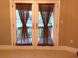 half glass door curtains how to make french door curtains door decoration