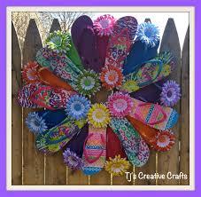 flip flop wreath a day in the with tj diy flip flop wreath