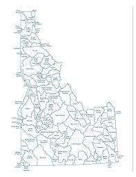 idaho zone map idaho counties map jpg