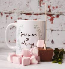 hot chocolate gift set personalised forever mug and hot chocolate gift set by bespoke