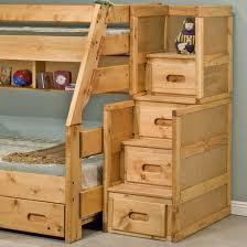 Trendwood Bunkhouse  Drawer Stairway Chest Boulevard Home - Trendwood bunk beds