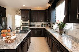 White Backsplash Kitchen by Kitchen Countertops Quartz With Dark Cabinets Kitchen With Dark