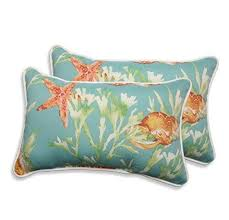 theme pillows 18 5x11 5 beige theme throw pillow fish coral lake house