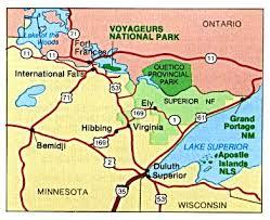 minnesota on map free minnesota national park maps