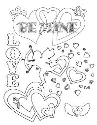 Plain Decoration Valentine Day Printable Coloring Pages Best For Day Printable Coloring Pages