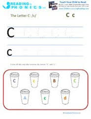 teaching the letter c and the c sound with phonics activities