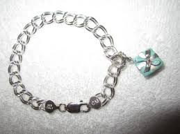 bracelet silver sterling tiffany images Tiffany co silver and blue box charm bracelet sterling 925 2 jpg