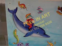 cartoon painting kids room painting play painting mumbai
