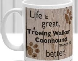 bluetick coonhound gifts treeing walker etsy