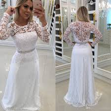of the gowns 2018 new hot white sleeves dresses modest lace