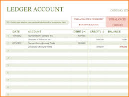 13 free accounting general ledger template ledger entries