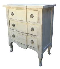 Chic Toiletries Chateau Shabby Chic French Distressed White Painted Carved 3