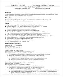 Resume Engineering Template Embeded Linux Engineer Sample Resume Haadyaooverbayresort Com