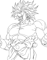 drawings of broly coloring page sketch coloring page