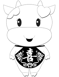 happy chinese new year cow coloring page h u0026 m coloring pages