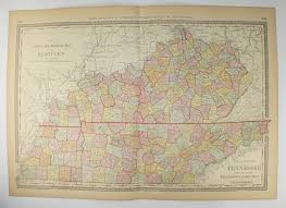 map ky and tn vintage ky map tn 1881 rand mcnally kentucky map tennessee
