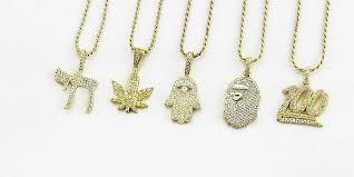 diamond necklace aliexpress images Bg custom diamond bape pendant necklace micro bijouterie gonin JPG