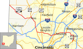 Ohio County Map With Roads by Ohio State Route 126 Wikipedia