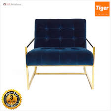 Blue Velvet Accent Chair New Design Blue Velvet Accent Chair With Arms For Sale Living Room