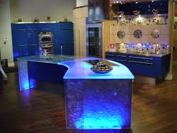 using led technology this island lights up and changes from a