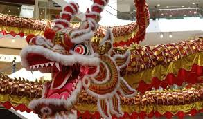 Tamil New Year Bay Decoration by Giant Dragon Decoration For Chinese New Year At A Shopping Mall