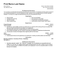 sample resume templates live career resume sample information live