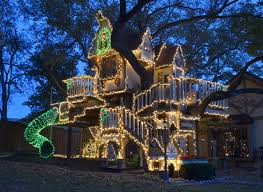 christmas tree house a magical tree house lights up for christmas eclectic kids