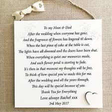 wedding gift personalised parents thank you wedding gift personalised plaque