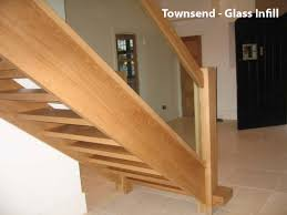 Glass Banisters For Stairs Contemporary Oak Townsend Staircase Glass Balustrade High