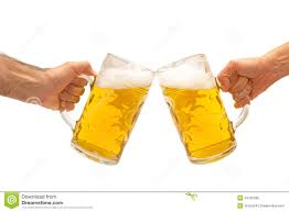 cartoon beer cheers beer mugs cheers stock photo image 44765336