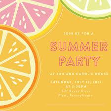 Reunion Cards Invitation Summer Party Invitations Iidaemilia Com