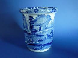 Italian Vase Unusual Copeland Spode Blue Italian Vase C1910