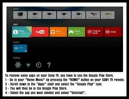delete apps android how to delete an app on a sony bravia android tv