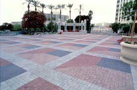 mcnear brick and block parking garage drain jpg loversiq hardscape pavers permeable pavement and surfaces the precast concrete paver installation at phoenix city square sits interior design