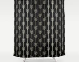 White And Black Shower Curtains Boho Shower Curtain Etsy