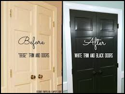 painting stained wood trim remodelaholic decorating with black 13 ways to use dark colors