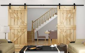 Sliding Closet Door Kit Modern Rustic Barn Door Kits Sliding Track Hardware Black