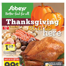 sobeys weekly flyer thanksgiving starts here oct 3 9